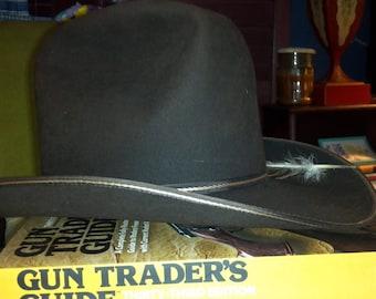 Vintage Resistol Self-conforming XXX Beaver Cowboy Hat Langston   Co  Oklahoma City 1f470fdba773