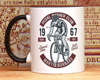 Bike cycling gift for cyclist coffee mug bicycle gifts bicycle accessories bike art gift bicycle PERSONALIZED gift for him gift for her