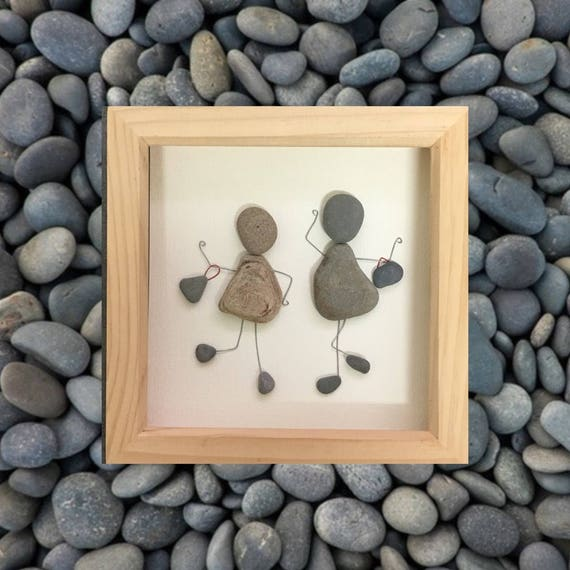 bester freund geschenk pebble art pebble bild einzigartiges etsy. Black Bedroom Furniture Sets. Home Design Ideas