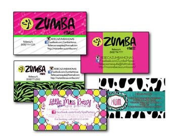 Zumba business card etsy business cards digital design reheart Gallery