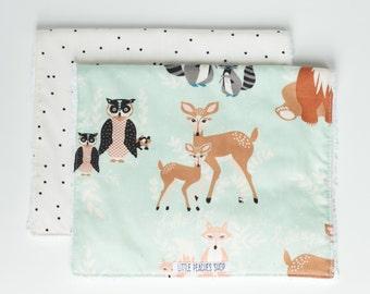 Burp Cloths Baby Burp Cloths Burp Clothes Boy Burp Cloths Woodland Animal Burp Rags Burp Cloths Boy Burp Pads Burp Cloth Set Baby Gift