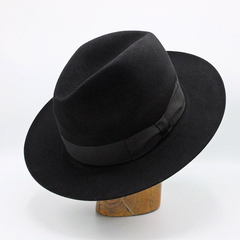 fe3b91e58adb58 The Fedora Handmade classic hat | Etsy