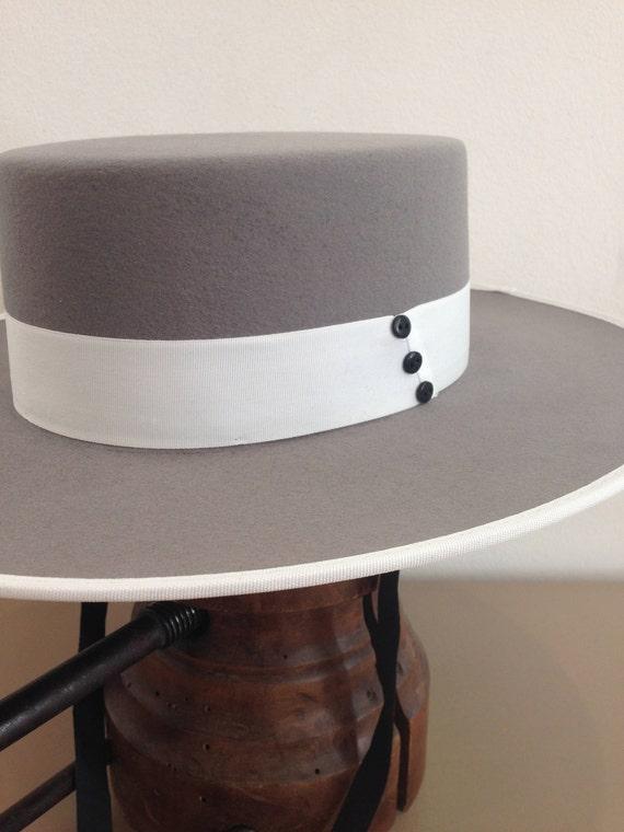 Bolero Hat Spanish style hat Wool felt  b83d1c77fdd