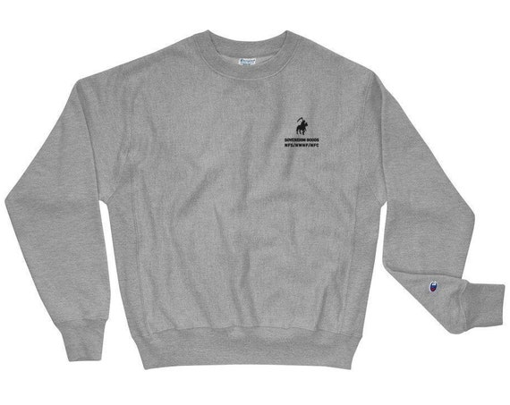 Death Is On Its Way Champion Crew Neck Sweatshirt by Sovereign Goods