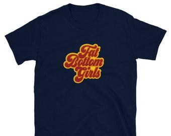 Queen Fat Bottom Girls Music Lyrics Short-Sleeve Unisex T-Shirt