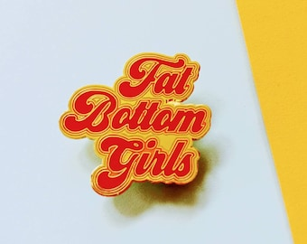 Queen Fat Bottom Girls Song Freddy Mercury Retro Enamel Pin