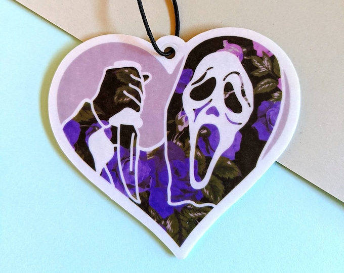 Ghost Teen Horror Scream Slasher Air Freshener Coconut Car Accessories