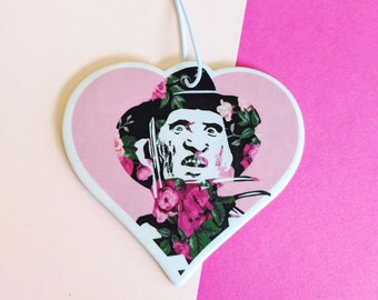 Freddy Krueger Floral Nightmare on Elm Street Air Freshener Car Accessorie
