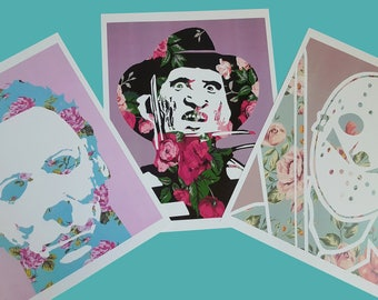 Floral Serial Killer Trilogy Prints 8x10""