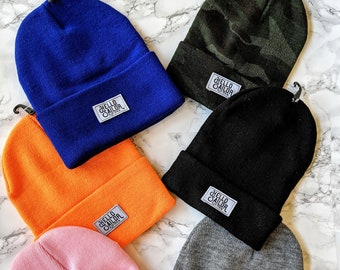 Beanies hats with logo multicolor winter skullcap
