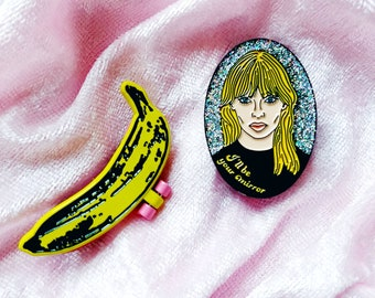 Velvet Underground Banana and Nico Enamel Pin Pack