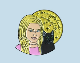 Sabrina the Teenage Witch 90s Glitter Enamel Pin
