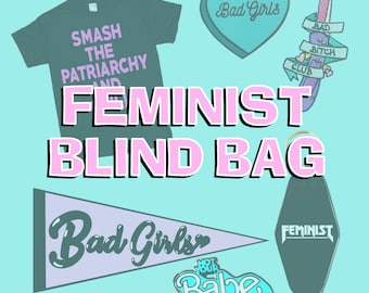 Feminist Blind Bag Random Assortment of Feminist Merch