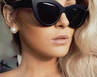 Retro Cat Eye Large Sunglasses Vintage Sonya 50s