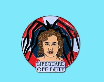 Billy Hargrove Lifeguard Mind Flayer Stranger Things Enamel Pin