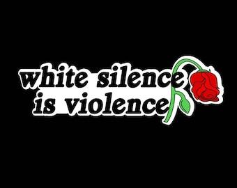 Pre-Order! White Silence is Violence enamel pin