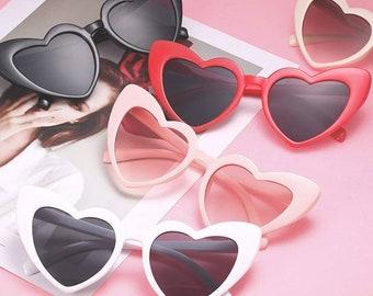 Heart Cat Eye Sunglasses Retro 50's