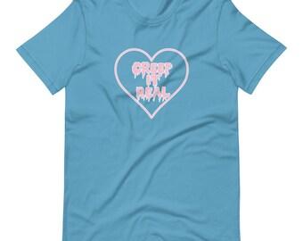 Creep It Real Heart Pastel Cute Short-Sleeve Unisex T-Shirt