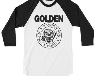 Golden Girls Ramones Parody Funny Punk Rock Music Band Retro 3/4 sleeve raglan shirt