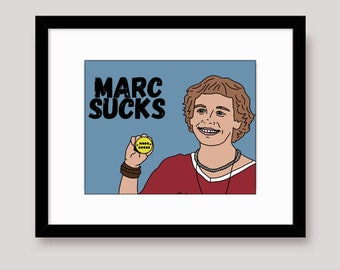 Marc Sucks Empire Records Mark 8x10 Landscape Art Print
