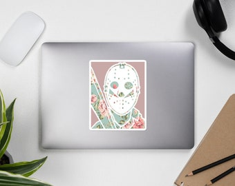 Floral Jason Friday the 13th Pastel Bubble-free stickers