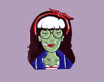 90's Zombie Horror Pin up Daria MTV Retro Vintage