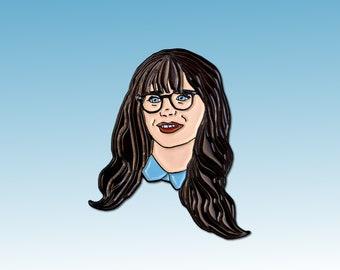 New Girl Jess Jessica Zooey Dechanel Day TV Comedy Enamel Pin
