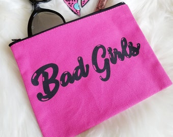 Bad Girls Feminist Canvas Make Up Cosmetic Studio Bag
