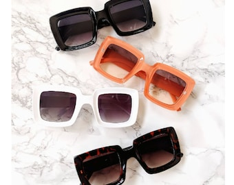Retro Oversized Square Emmes Sunglasses 60s 70s Vintage