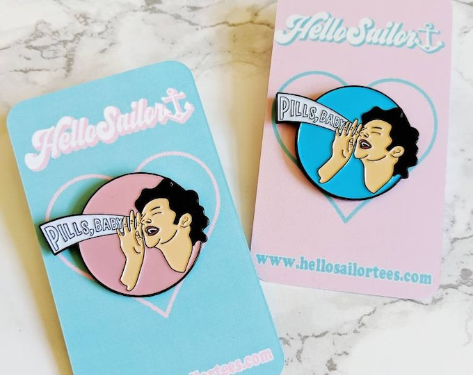 Jean Ralphio Parks and Rec Pills Baby The Worst Enamel Pin
