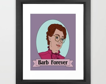 Stranger Things Barb Forever Art Print 8x10""