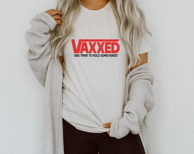 Vaccinated Vaxxed Covid Mask Parody Short-Sleeve Unisex T-Shirt