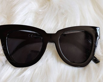 New Oversized Large Cat Eye Wayfarer Women's Sunglasses