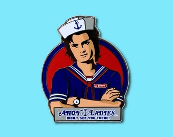 Steve Harrington Scoops Ahoy Starcourt Stranger Things Hard Enamel Pin