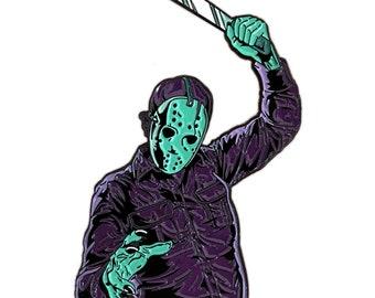 Jason Vorhees Crystal Lake Slasher NES variant Enamel Pin Friday the 13th