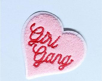 Chenille Heart Girl Gang Patch