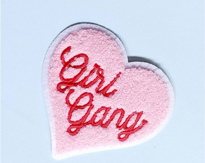 Chenille Heart Girl Gang Patch