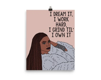 Beyonce Lemonade Formation Inspirational Print Poster