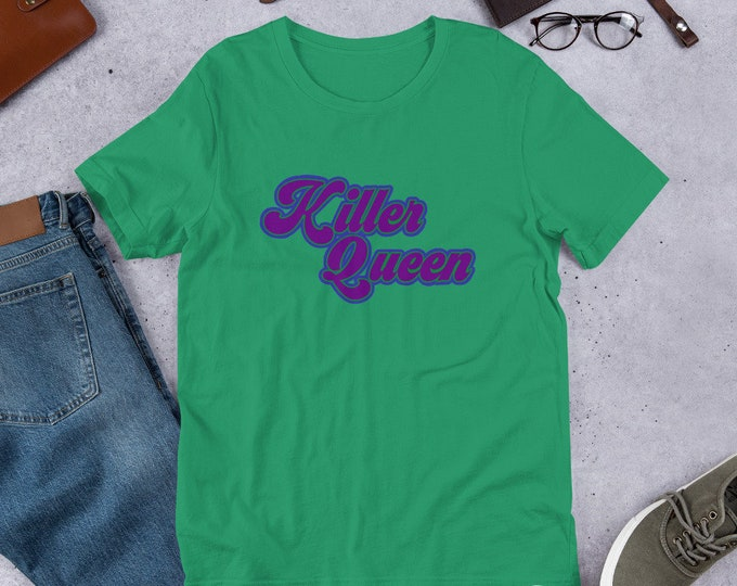Killer Queen Band Rock 70's Retro Style Short-Sleeve Unisex T-Shirt