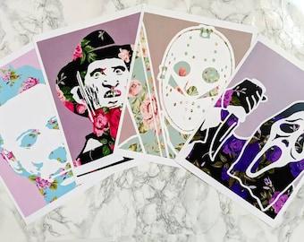 "Floral Serial Killer Set Prints 8x10"""