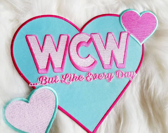 Woman Crush Wednesday Large Woven Heart Back Patch