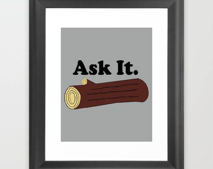 "Twin Peaks Log Lady Ask It 8x10"" print"