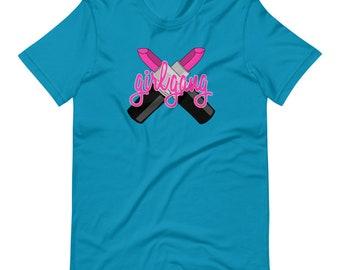 Girl Gang Lipstick Feminist Short-Sleeve Unisex T-Shirt