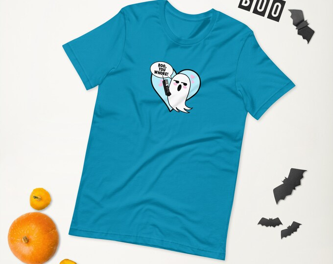 Boo You Whore Ghost Phone Spooky Short-Sleeve Unisex T-Shirt