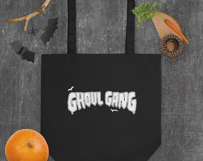 Ghoul Gang Bats Halloween Spooky Eco Tote Bag