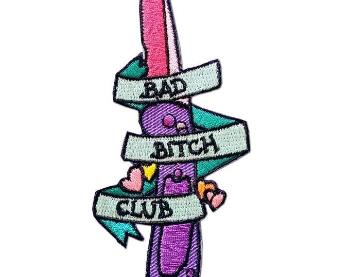 Bad Bitch Club Pastel Knife Iron On Patch