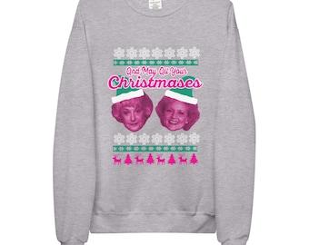 May All Your Christmases Bea White Golden Unisex fleece sweatshirt