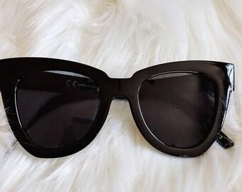 Retro Oversized Wayfarer Cat Eye Haley Sunglasses Vintage