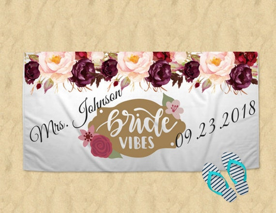 f23a4d8c6 Just Married Custom Towel Bride gift Just Married gift