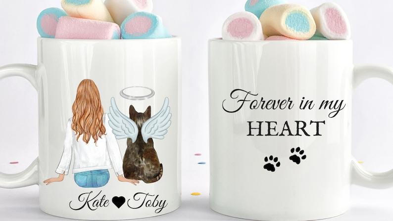 Custom Cat Memorial Mug Cat Loss Gift Cat Lover Gifts image 0
